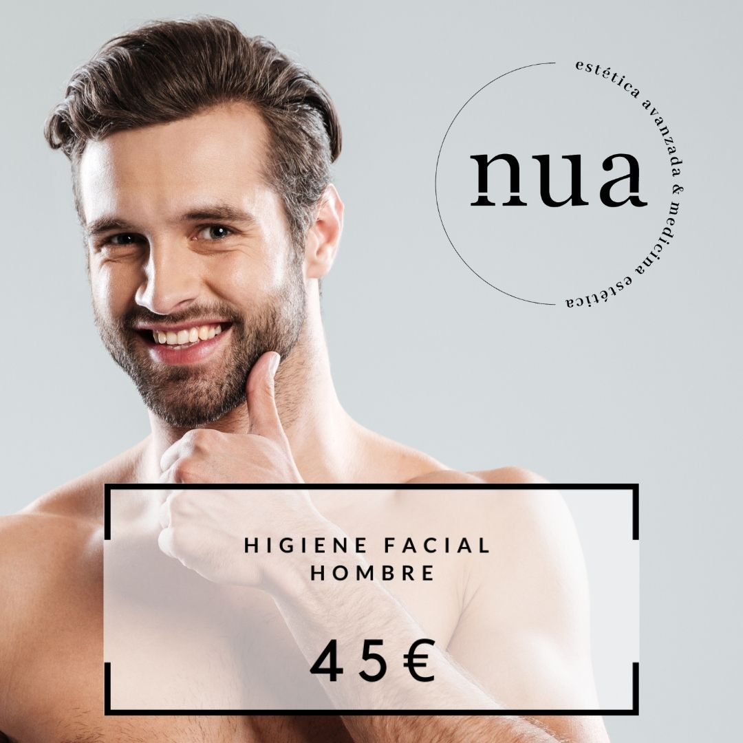 Higiene facial masculino